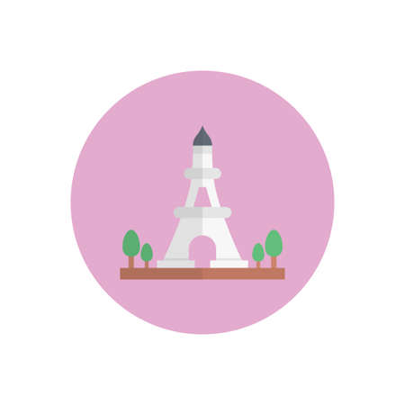 tower design icon 向量圖像