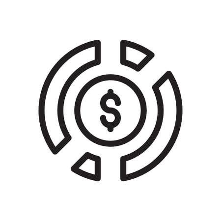 chart icon for website design and desktop envelopment, development. Premium pack. Vektoros illusztráció