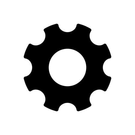 gear vector glyph flat icon Vektoros illusztráció