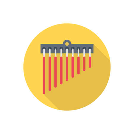 instrument vector flat color icon