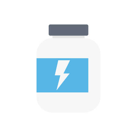 energy vector flat color icon