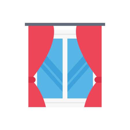 curtains icon 向量圖像