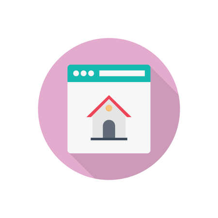 house vector flat color icon