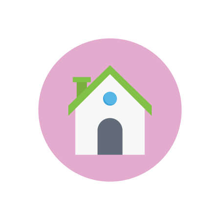 home vector flat color icon