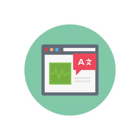 interpretation vector flat color icon Ilustración de vector