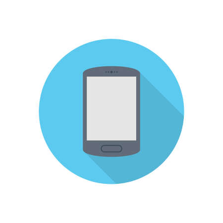 phone vector flat color icon
