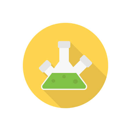 chemical vector flat color icon