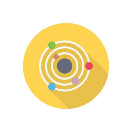 radar vector flat color icon