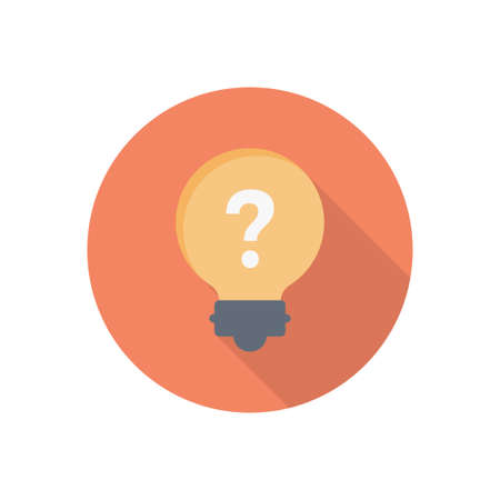 question vector flat color icon Çizim