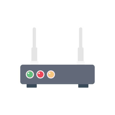 modem vector flat color icon Çizim