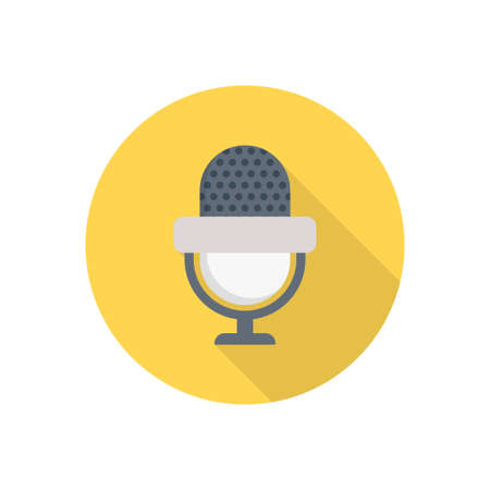 microphone vector flat color icon Çizim
