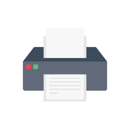 print vector flat color icon