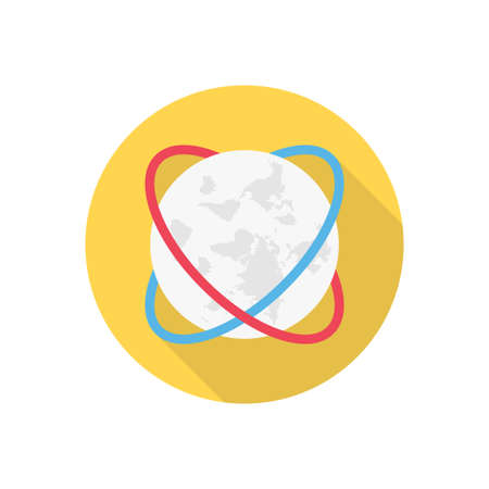 world vector flat color icon