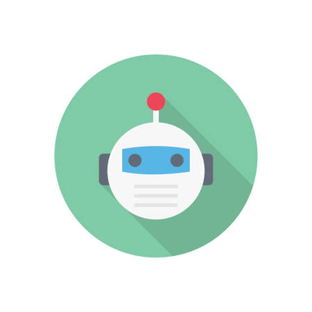 automatic vector flat color icon
