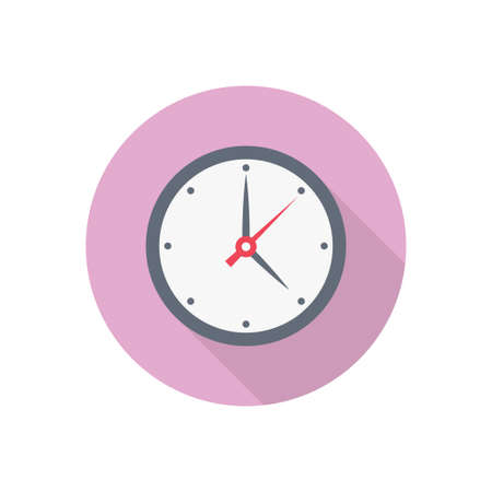 clock vector flat color icon