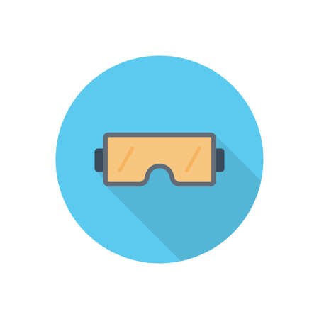 goggles vector flat color icon Çizim