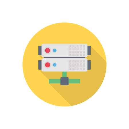 storage vector flat color icon