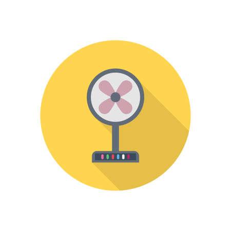 fan vector flat color icon Vetores