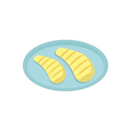 meat vector flat color icon Ilustração Vetorial