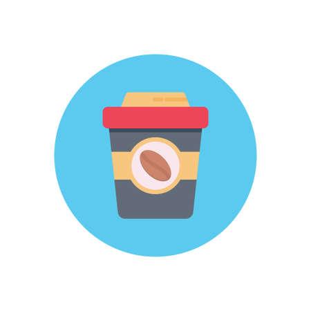 beverage vector flat color icon