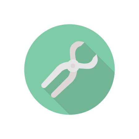 dental vector flat color icon