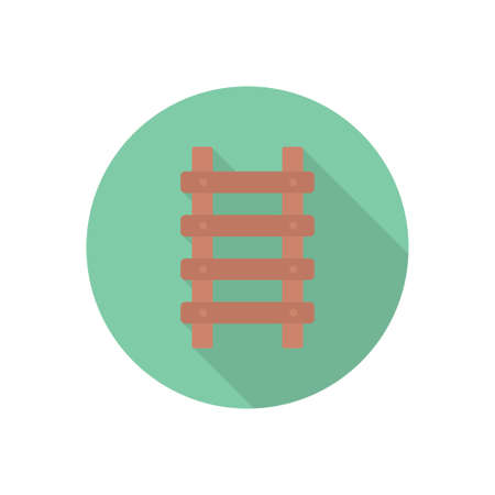 ladder vector flat color icon Çizim