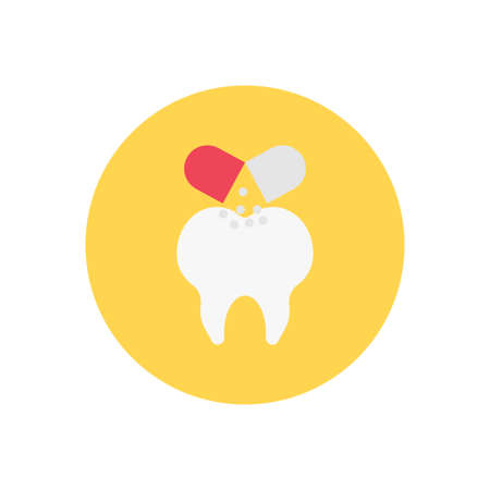 dental vector flat color icon