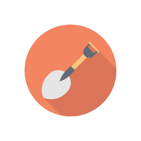 spade vector flat color icon