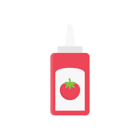 sauce vector flat color icon Çizim