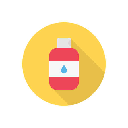 bottle vector flat color icon Çizim