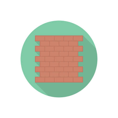 bricks vector flat color icon