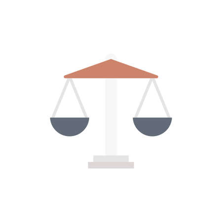 court vector flat color icon
