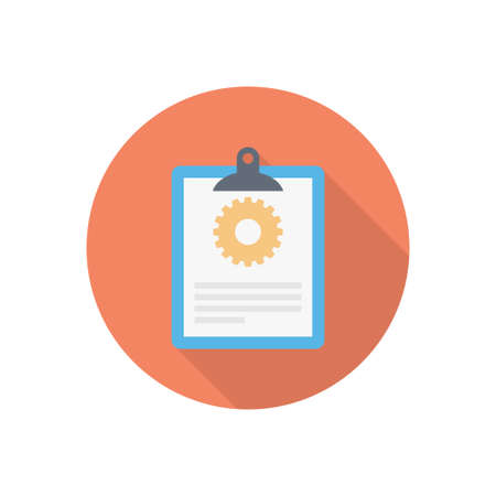 report vector flat color icon