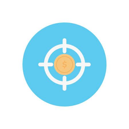 dollar vector flat color icon