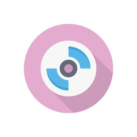 DVD icon for website design and desktop envelopment, development. Premium pack. Vektorové ilustrace