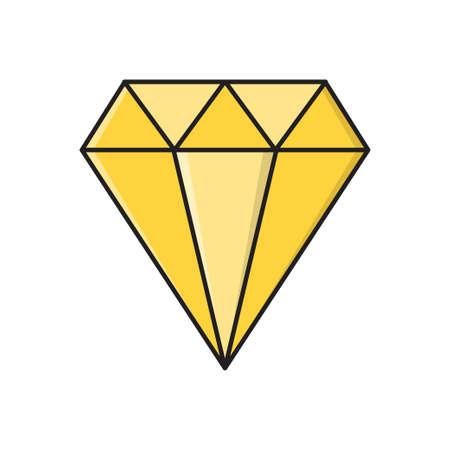 gem icon for website design and desktop envelopment, development. Premium pack. Vector Illustration