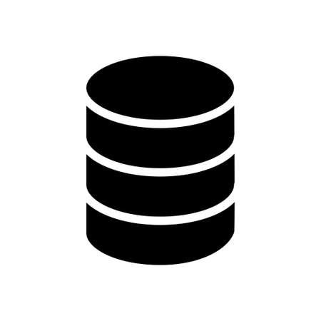 server vector glyph flat icon Vektoros illusztráció
