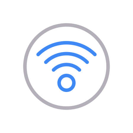 wireless vector colour line icon