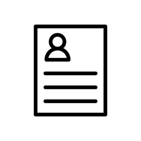 resume vector thin line icon
