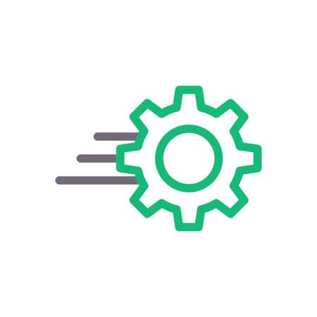 gear vector colour line icon