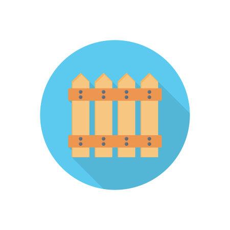 fence vector flat colour icon Ilustración de vector