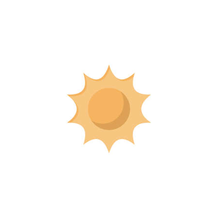 sun vector flat colour icon