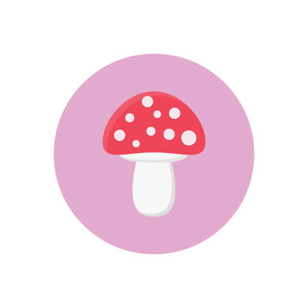 mushroom vector flat colour icon