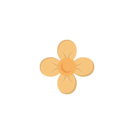 flower vector flat colour icon
