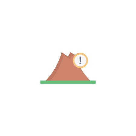 hills danger vector flat colour icon