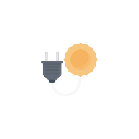 energy solar vector flat colour icon 向量圖像