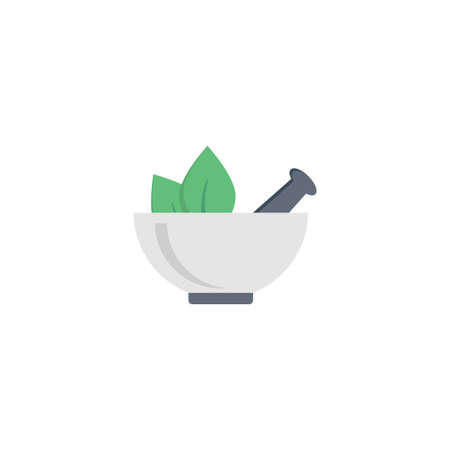 pestle vector flat colour icon