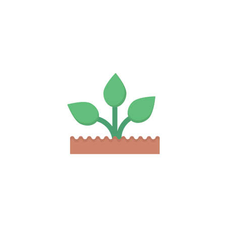plant vector flat colour icon