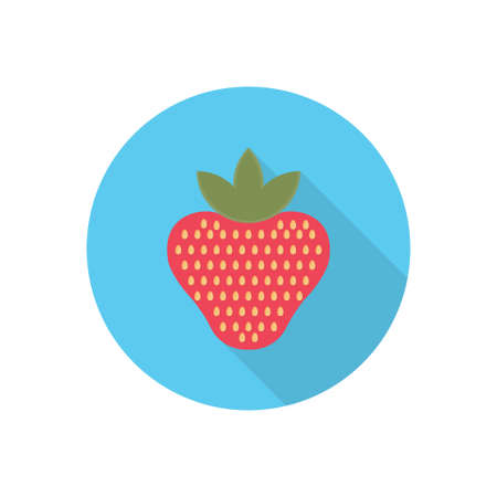 strawberry vector flat colour icon 向量圖像