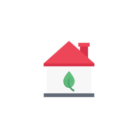 green house vector flat colour icon